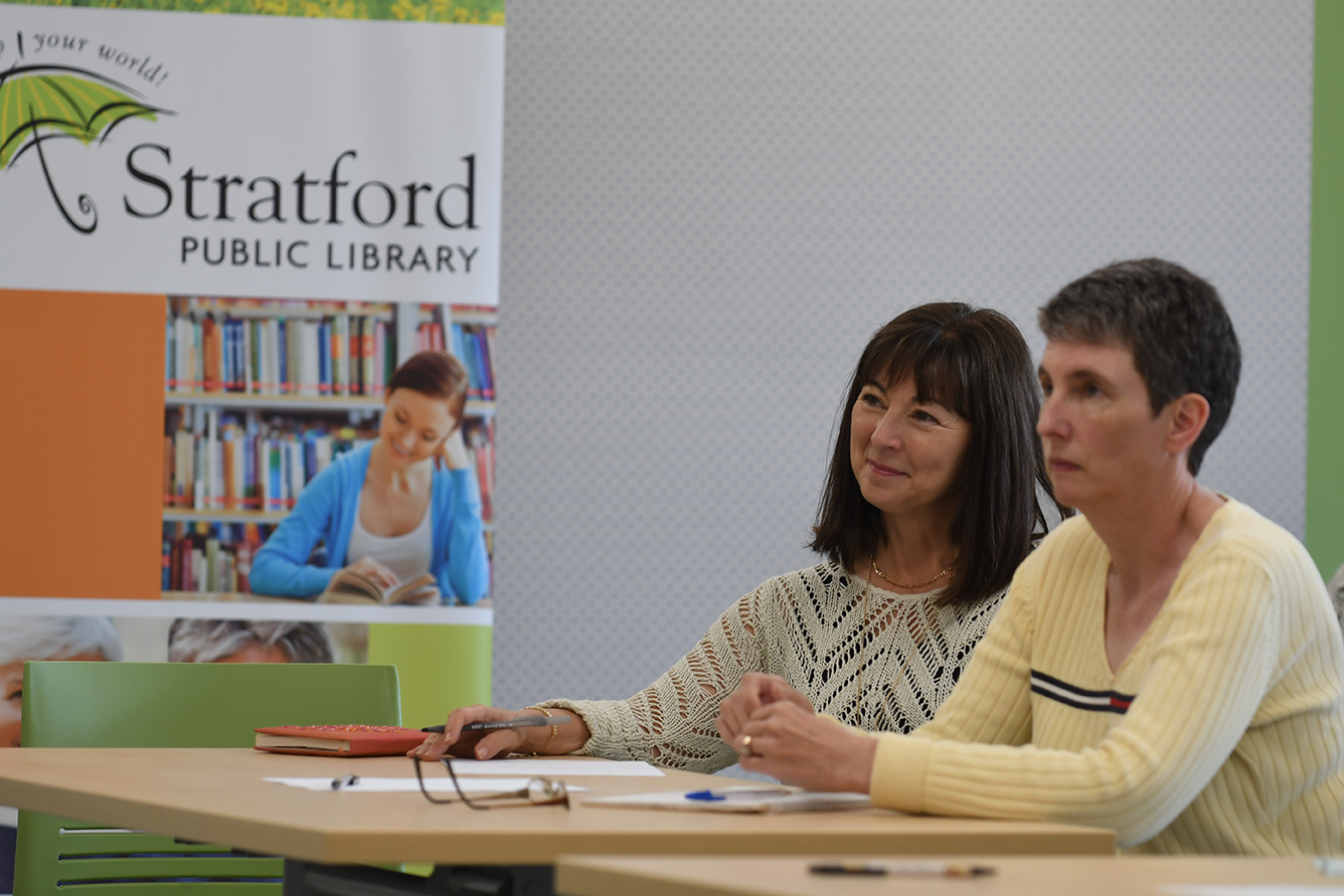 Stratford Writers Festival event at the Public Library